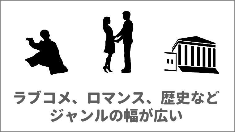u-next韓国ドラマの口コミ2.幅広いジャンルがあるの図解